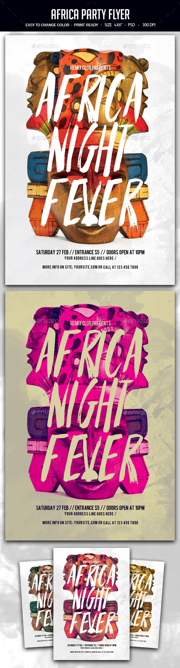 Africa Party Flyer - Clubs & Parties Events