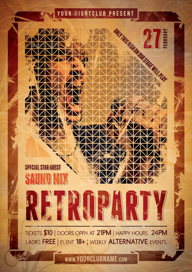 Retro Party Poster V1