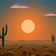 Sunrise over the desert - VideoHive Item for Sale