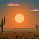 Sunrise over the desert - VideoHive Item for Sale