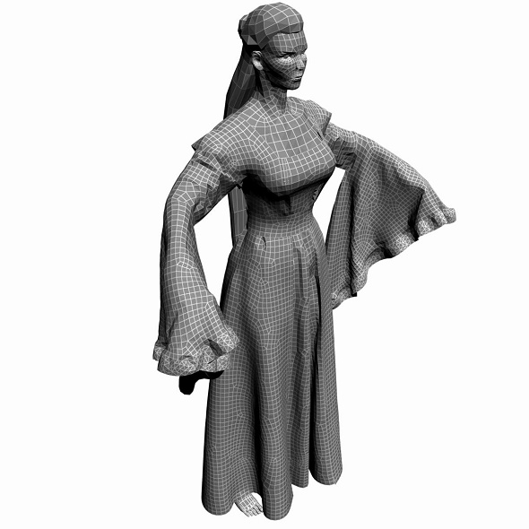 Low Poly Base Mesh wooman 1 - 3DOcean Item for Sale