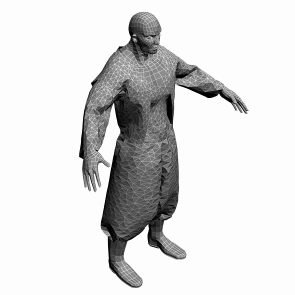 Low Poly Base Mesh man 1 - 3DOcean Item for Sale