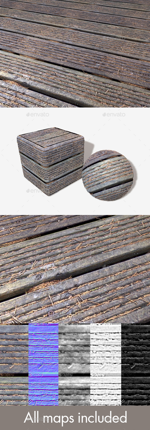 Autumn Decking Seamless Texture - 3DOcean Item for Sale