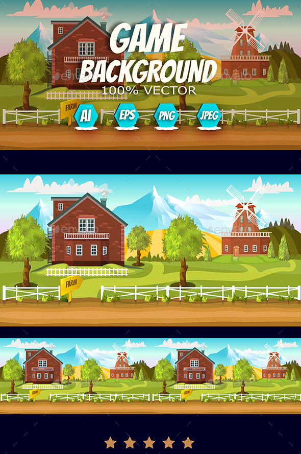 Farm Game Background - Backgrounds Game Assets
