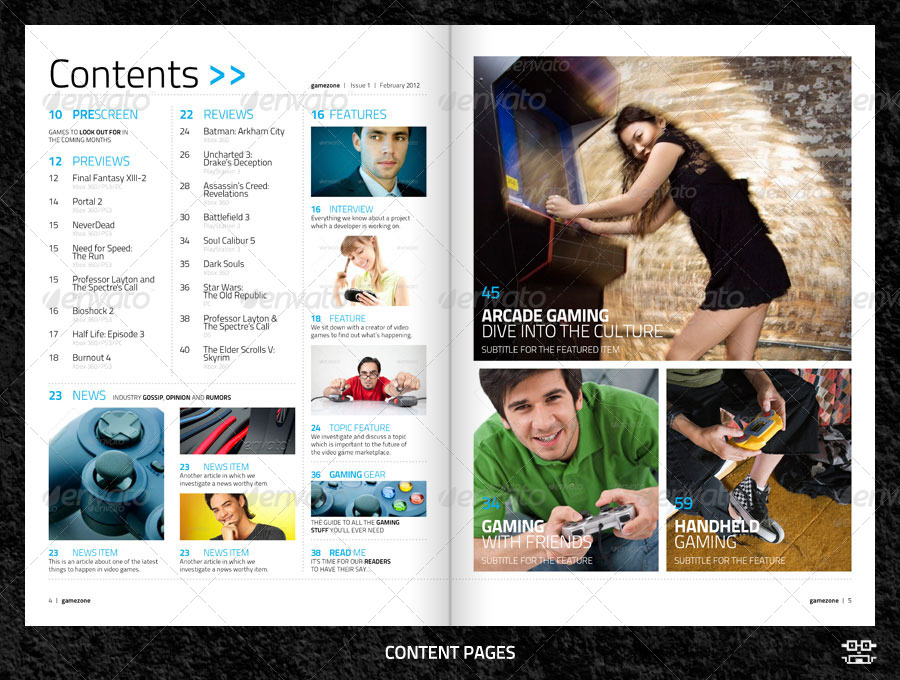 Video Game Magazine Template By Bilmaw