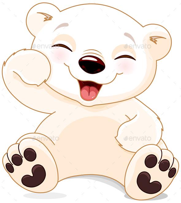 Happy Polar Bear  - Animals Characters