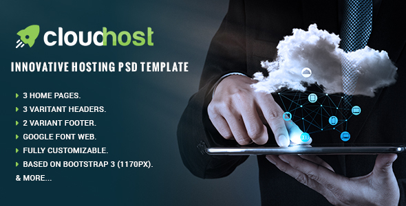 Cloud Host - Innovative Hosting PSD Template - Hosting Technology