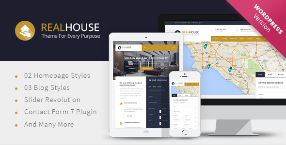 Realhouse – Real Estate WordPress theme