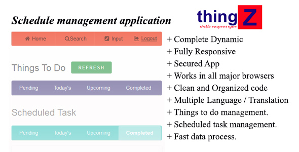 Thingz-Schedule Management Application - CodeCanyon Item for Sale