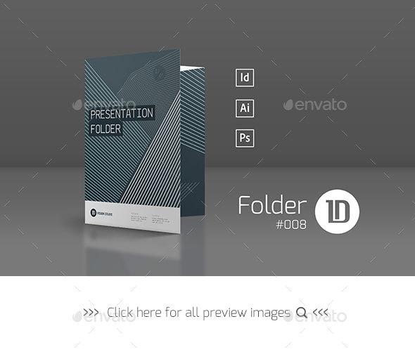 Presentation Folder Template 008 - Stationery Print Templates