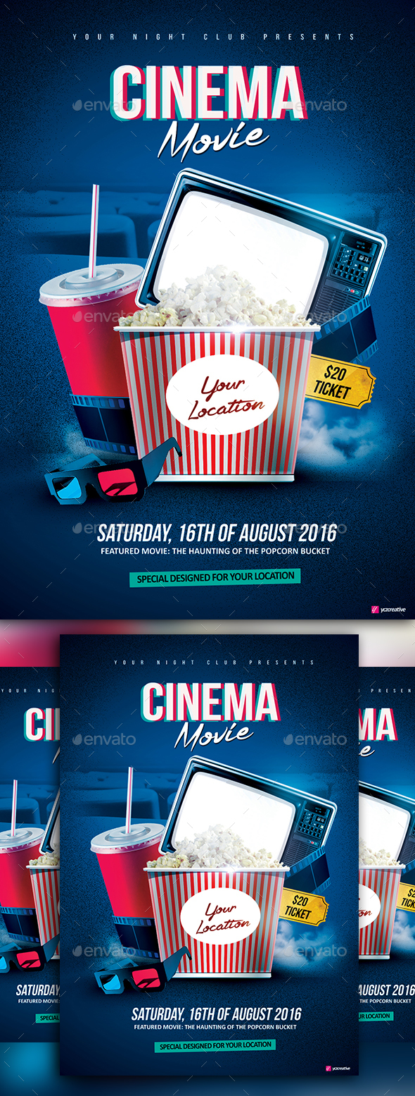 Cinema Home Movie - Events Flyers
