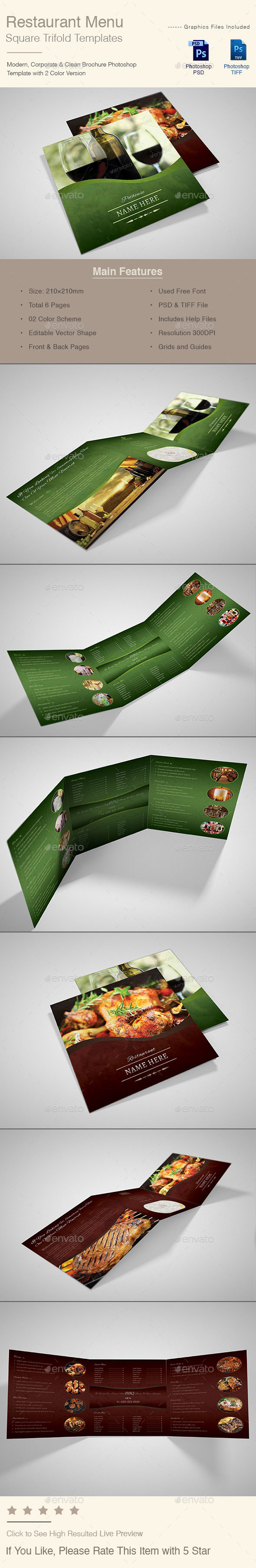 Restaurant Menu Trifold - Catalogs Brochures