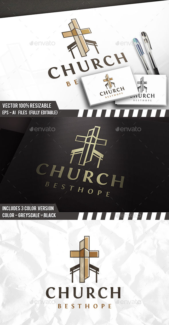 Cross Church Logo - Buildings Logo Templates