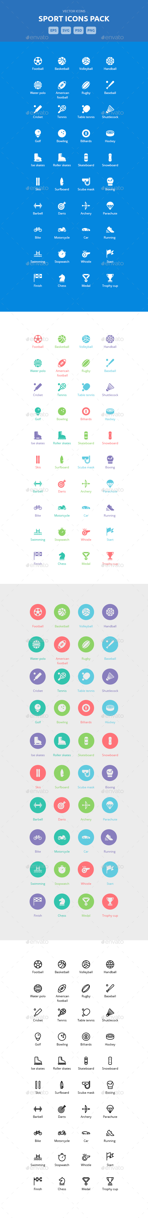 Sport - Vector Icons - Icons
