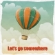 Vintage Hot Air Balloon in the Sky - GraphicRiver Item for Sale
