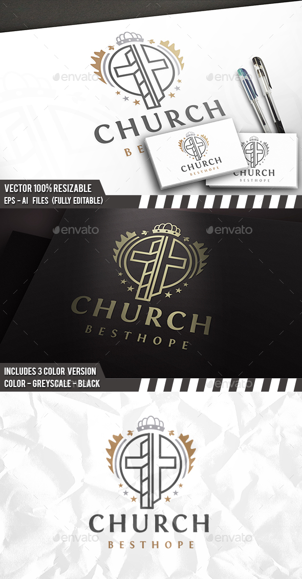 Royal Church Logo - Crests Logo Templates