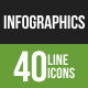 Infographics Line Green & Black Icons