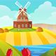 Farm Cartoon Background - GraphicRiver Item for Sale