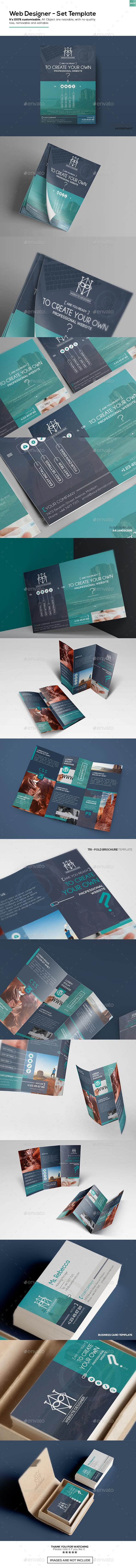 Web Designer – Set Template - Portfolio Brochures