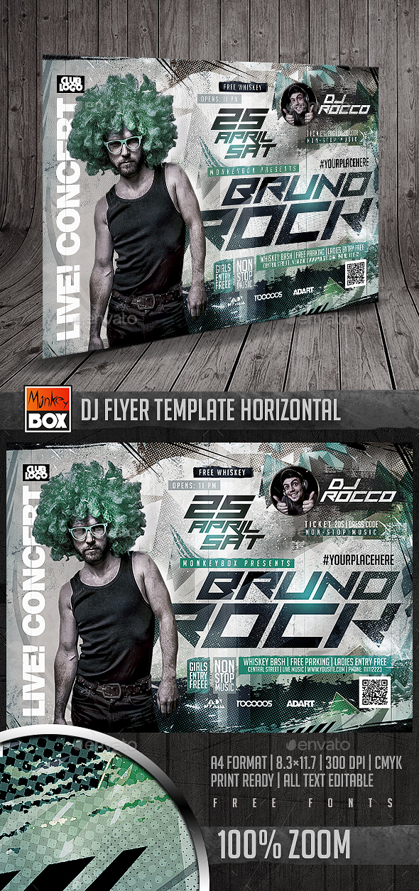 Dj Flyer Template Horizontal - Clubs & Parties Events