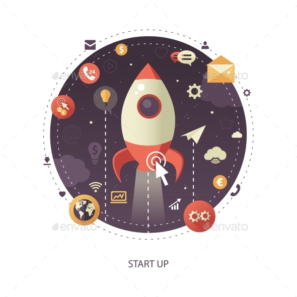Start Up Flat Design Business Infographics - Concepts Business