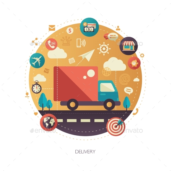 Delivery Services Modern Flat Design Business - Industries Business