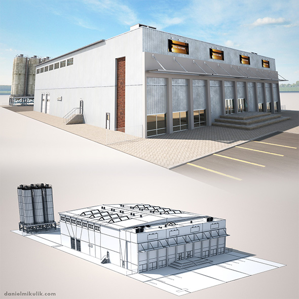 Warehouse Building - 3DOcean Item for Sale