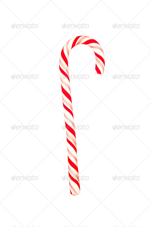 Candy cane on white - Stock Photo - Images