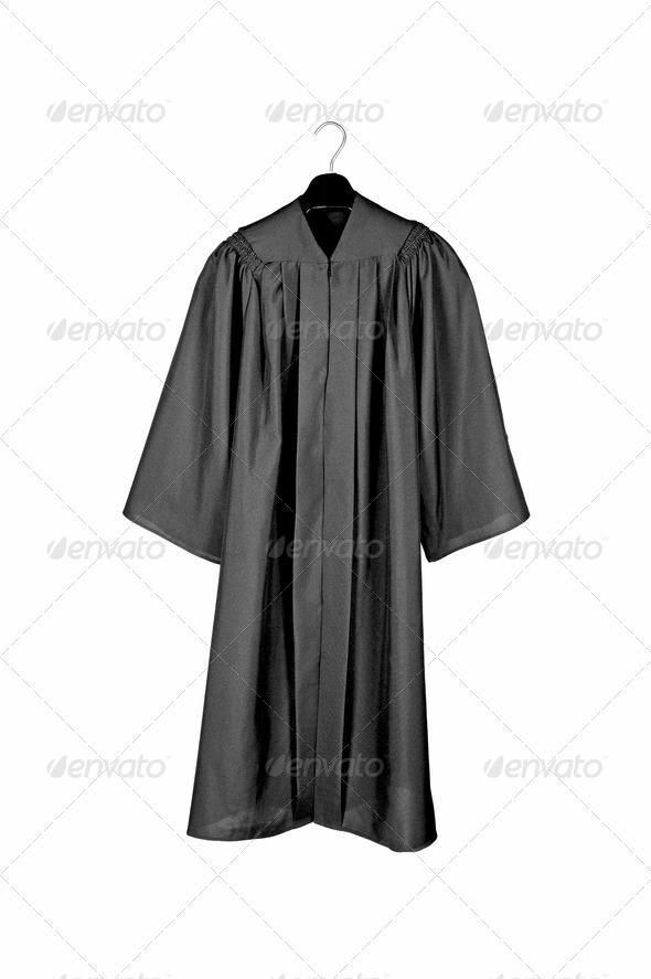 Black graduation gown - Stock Photo - Images