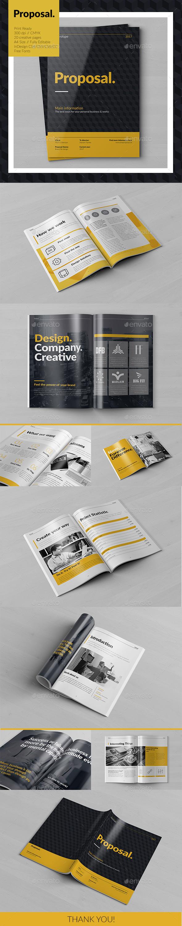 Creative Proposal - Brochures Print Templates