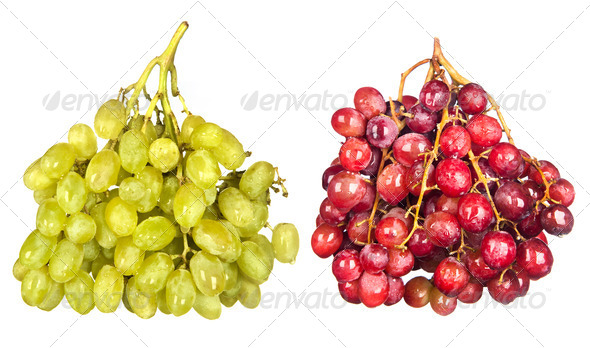 Grapes on white - Stock Photo - Images