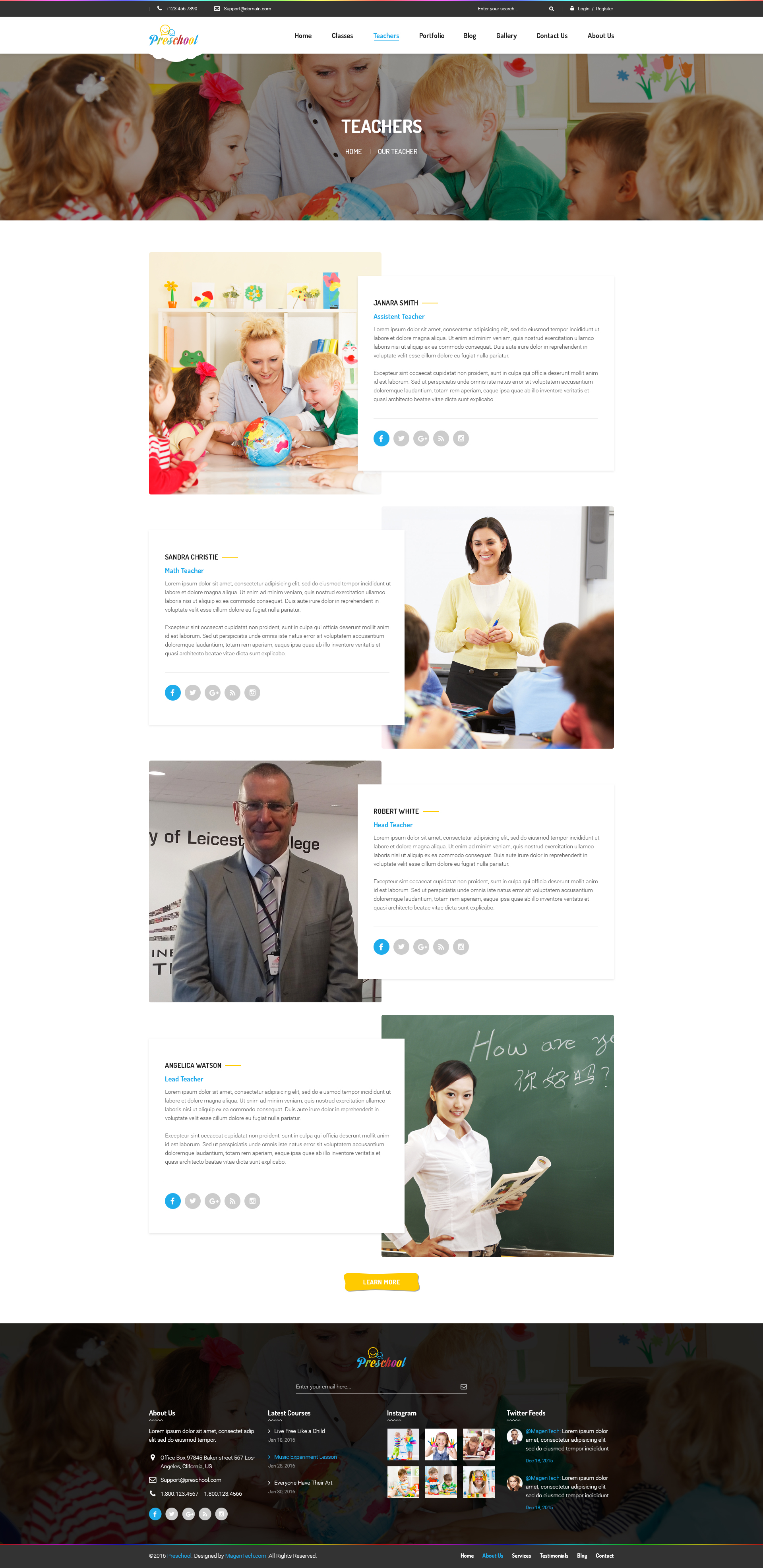 Preschool Multipurpose Business Psd Template By Magentech