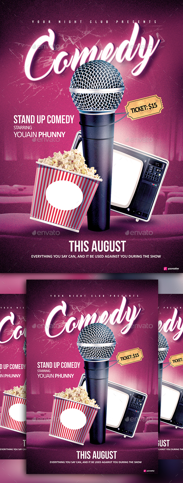 Stand Up Comedy - Events Flyers