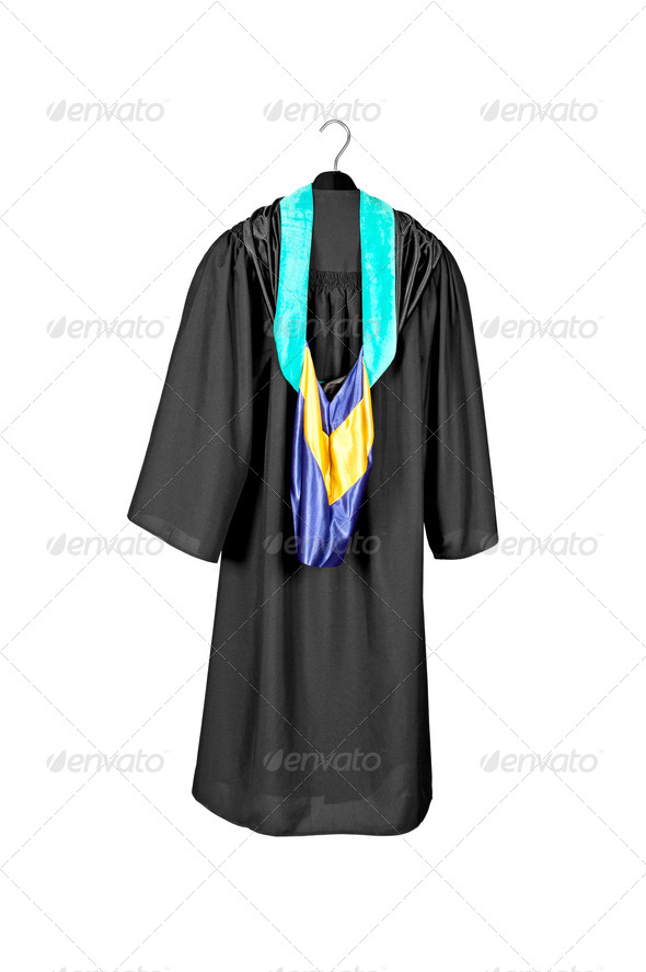 Graduation Gown and hood - Stock Photo - Images