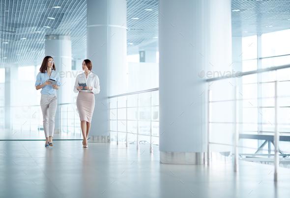 Mobile businesswomen - Stock Photo - Images