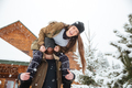Couple having fun and laughing in winter - PhotoDune Item for Sale