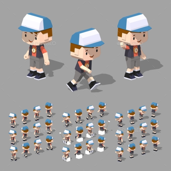 Low Poly Boy - People Characters