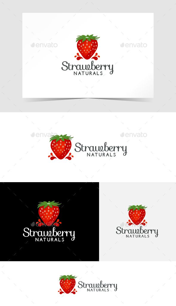 Strawberry Logo Template by emotions76 | GraphicRiver