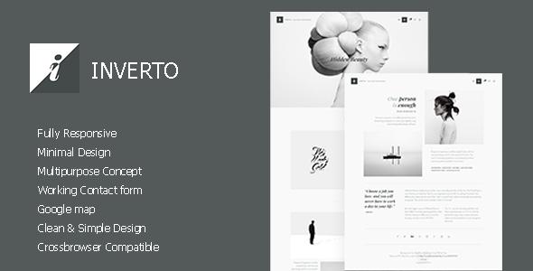 Inverto - Minimal HTMLTheme - Creative Site Templates