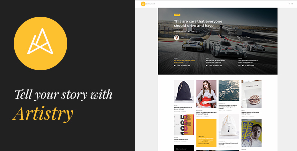 Artistry - News, Magazine, Blog & Personal WordPress Theme - Blog / Magazine WordPress