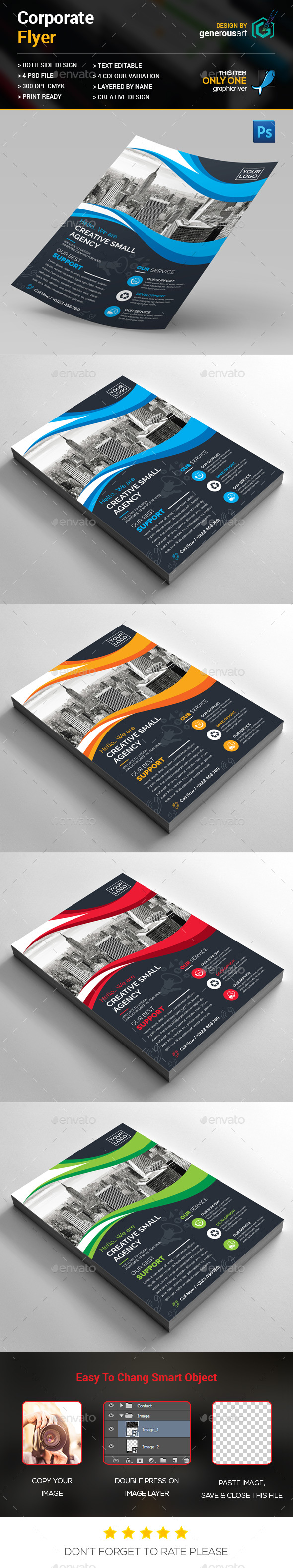 One Side Corporate Flyer - Corporate Flyers
