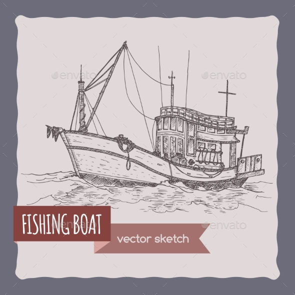 Fishing Boat Sketch - Travel Conceptual
