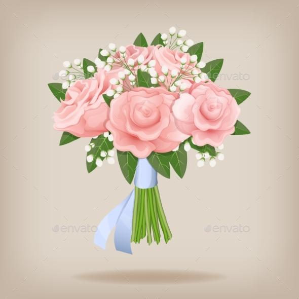 Wedding Bouquet of Pink Roses - Weddings Seasons/Holidays