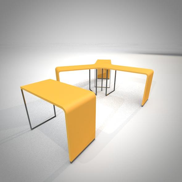 Brunch table set - 3DOcean Item for Sale