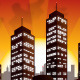 Sunset City Vector Background - Skyline - GraphicRiver Item for Sale