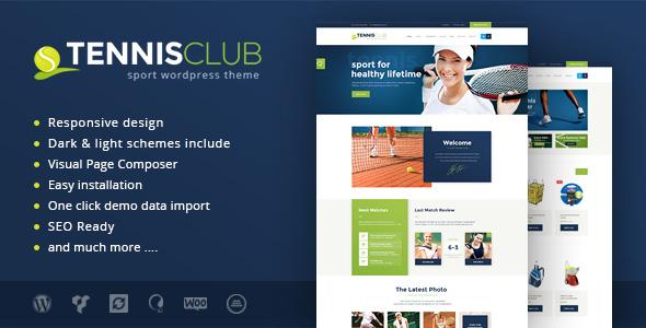 Tennis Club   Sports & Events WordPress Theme