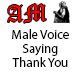 Male Voice Saying Thank You