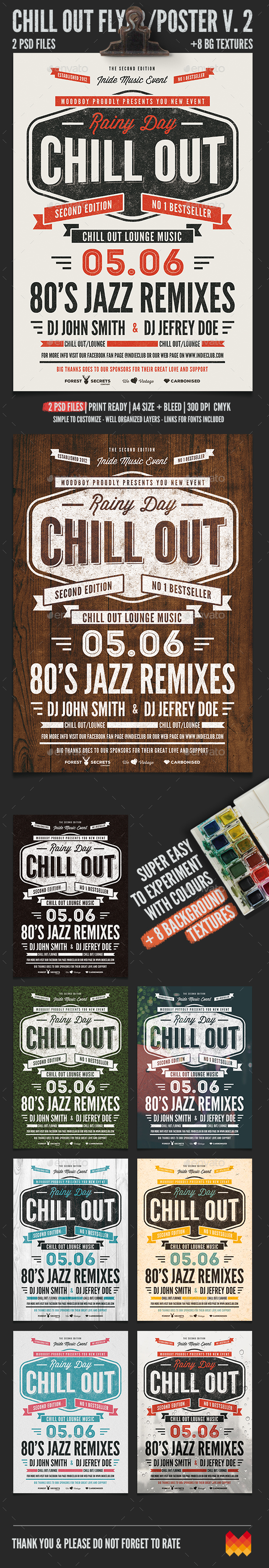 Chill Out Flyer/Poster V. 02 - Flyers Print Templates