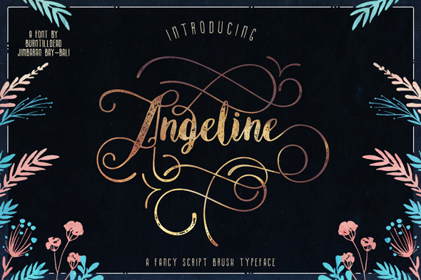 Angeline + SWASHES - Hand-writing Script