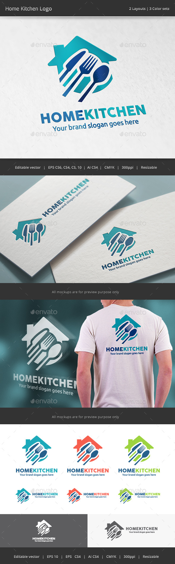Home Kitchen Logo - Vector Abstract